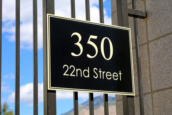 Commercial building address signs in Surprise, AZ