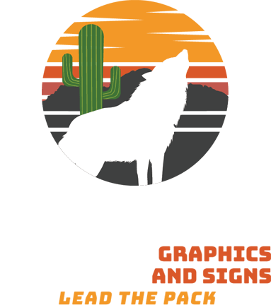 Colorful Logo of Howling Wolf Graphics & Signs in Surprise, AZ