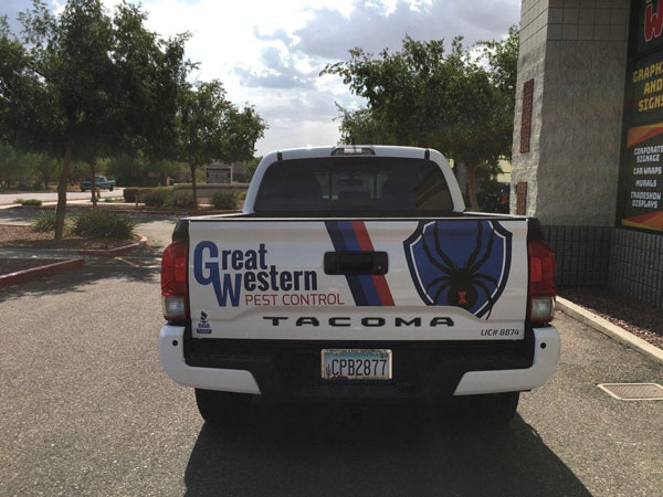 Great western truck wraps by Howling Wolf in Surprise, AZ