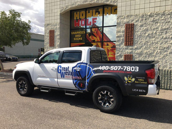 Great western vinyl truck wraps for business advertising in Phoenix, AZ