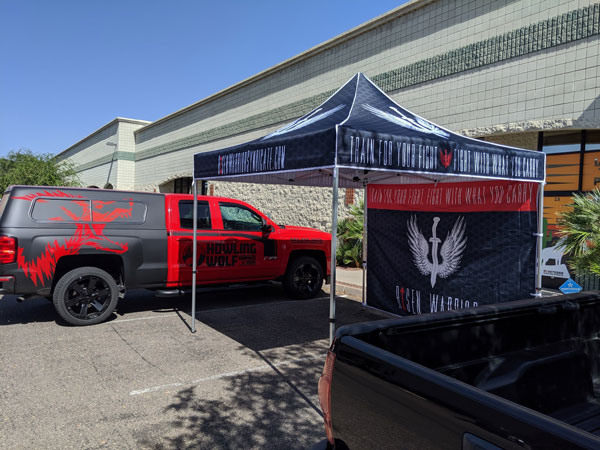 Custom commercial vinyl truck wraps and decals for Howling Wolf Graphics & Signs