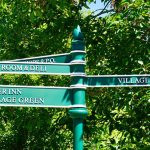 Directional wayfinding signs