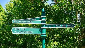 Directional wayfinding signs
