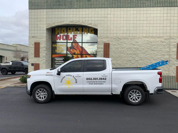 Commercial car wrap advertising for Arizona Valley in Phoenix, AZ