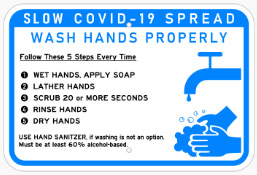 Wash Hands Banner for COVID-19